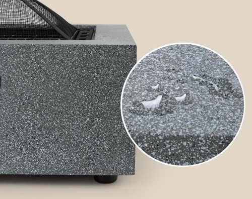 Materiál ohniště odolávající vodě i mrazu