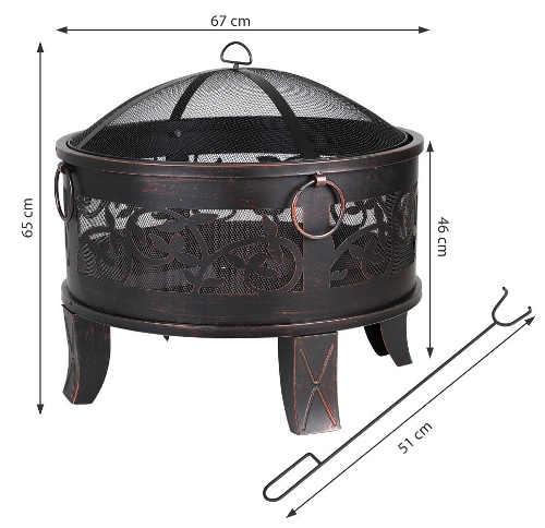 Ocelové zahradní ohniště průměr 67 cm