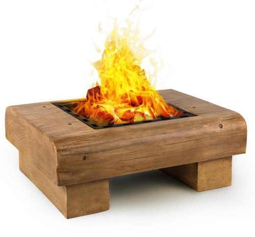 Zahradní ohniště imitace dřeva z mrazuvzdorného a vodotěsného kamene