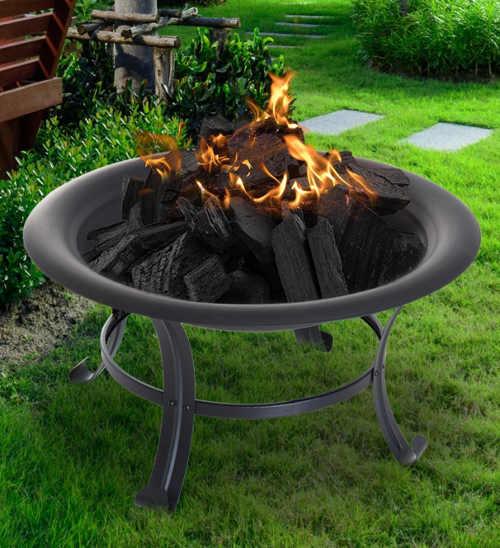 Přenosné kovové zahradní ohniště průměr 74 cm