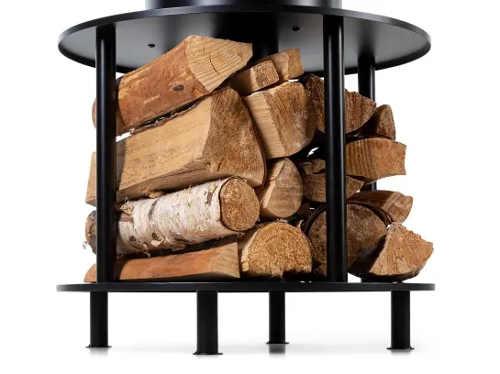 Úložný prostor na dřevěná polena pod grilem