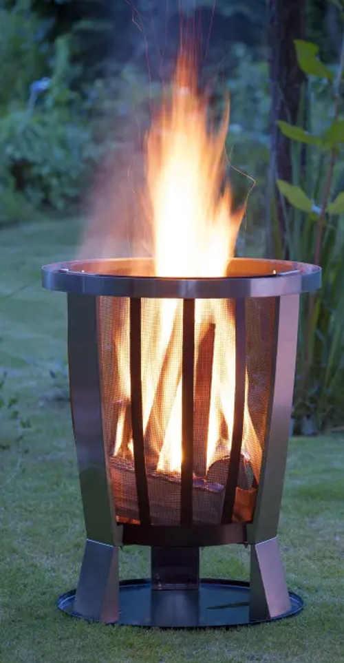 Vysoké přenosné ohniště na zahradu