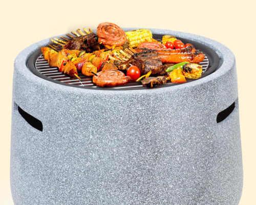 Vysoké zahradní ohniště pro zdravější grilování