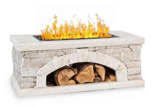 Zahradní ohniště krb z umělého kamene Blumfeldt Matera
