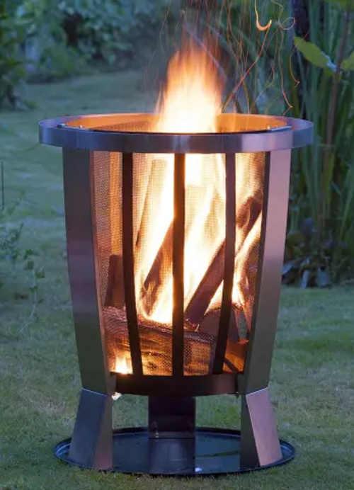 Zahradní ohniště které můžete bez obav položit na trávník