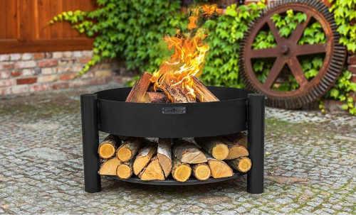 moderní praktické ohniště cooking černé