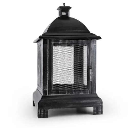 Zahradní přenosné ohniště ve tvaru lucerny