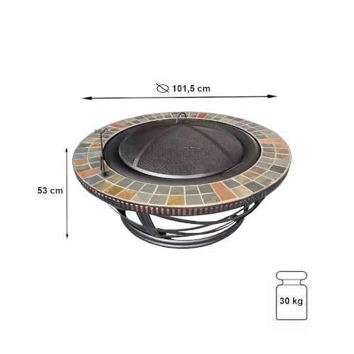 kovové přenosné ohniště Baumax