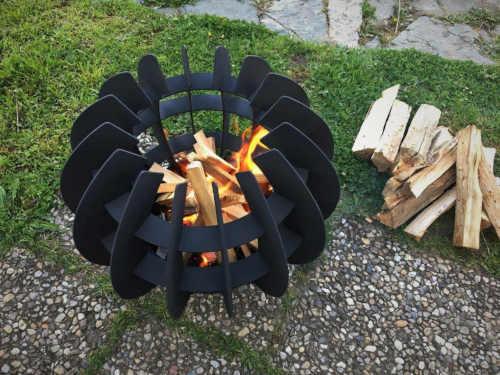 ohniště fireball černé přenosné