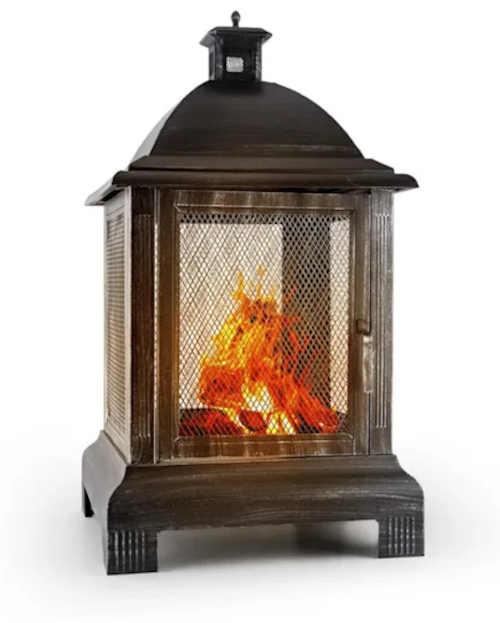 zahradní kovové ohniště lucerna