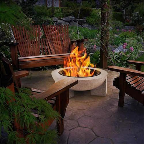 zahradní moderní ohniště troja