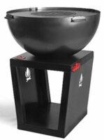 Designové přenosné ohniště SANTOS s praktickým zásobníkem na dřevo