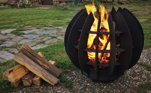Kovové přenosné ohniště Fireball 60 cm