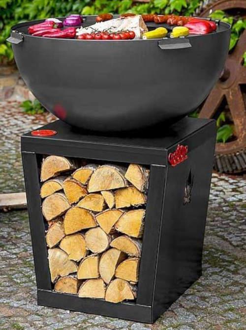 Luxusní kovové přenosné zahradní ohniště