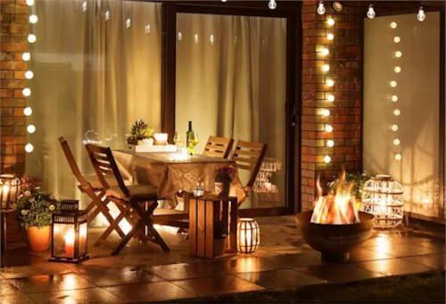 S ohništěm si na terase vytvoříte romantickou atmosféru