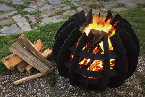 Zajímavé přenosné ohniště na zahradu