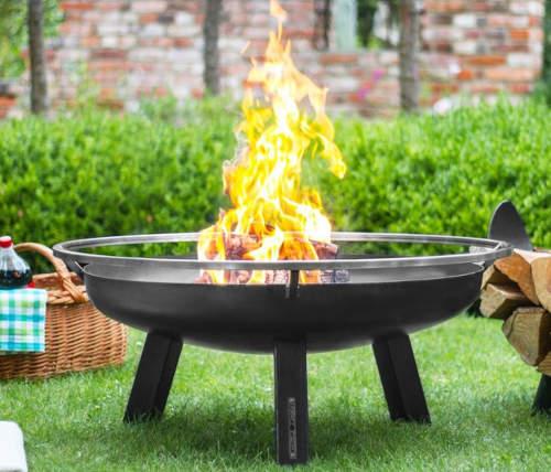 Kruhové kovové zahradní ohniště průměr 60 cm