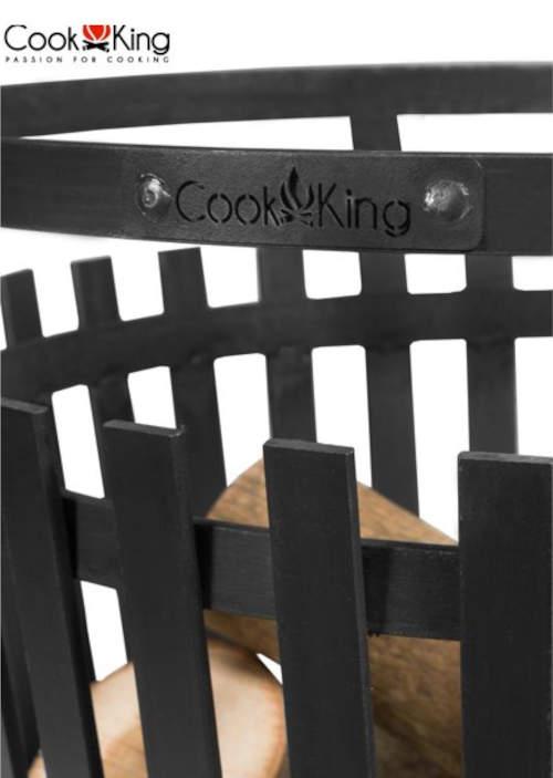 Ocelový koš na oheň Cook King