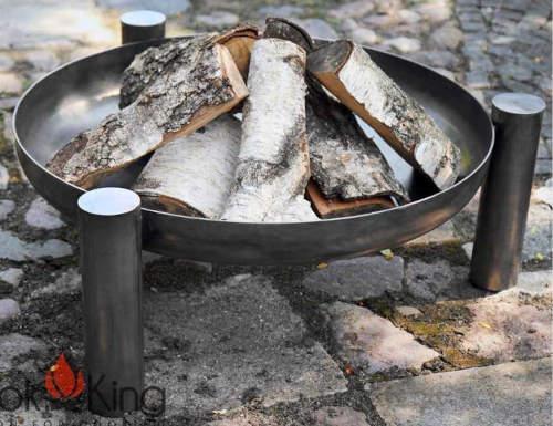 Přenosné zahradní ohniště vyrobené z silnostěnné oceli