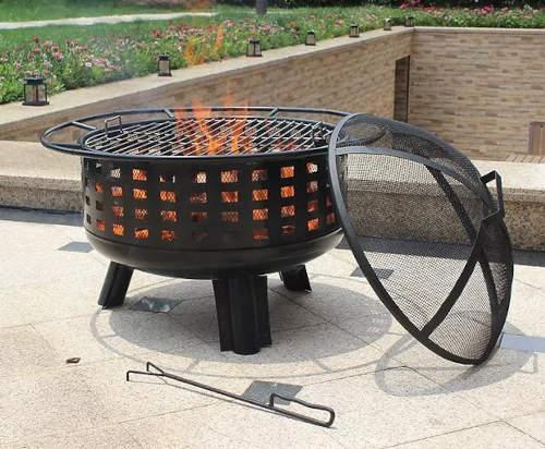 Zahradní koš na oheň s poklopem